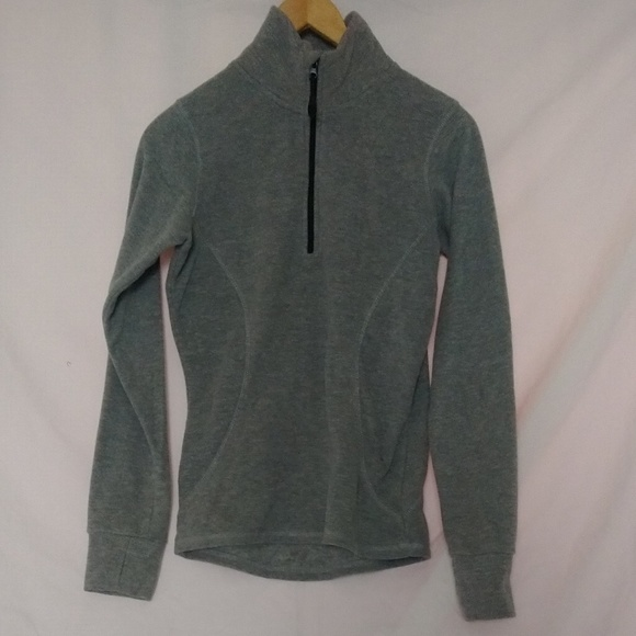 Everlast Sweaters - Everlast 1/4 Zip Front Gray Pullover Sweater